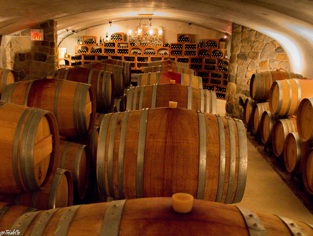 Vineland Estates Winery Cellar Barrels Library